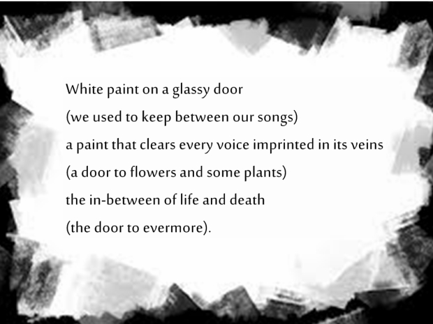 White paint-poem